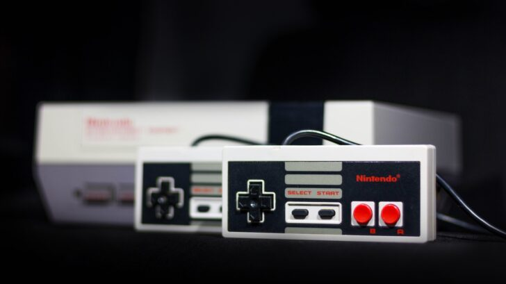 NES system with controllers