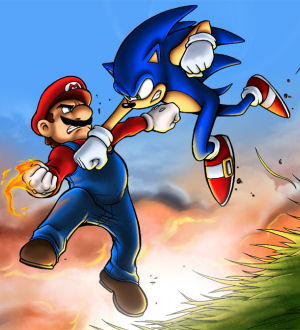 Mario vs. Sonic by Tom Pollock Jr.