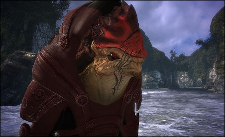 Wrex in Effect: The game's ultimate rump shaker.