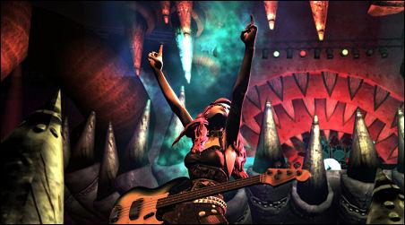Rock band throwin' horns