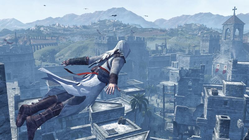 Assassin's Creed jump from building