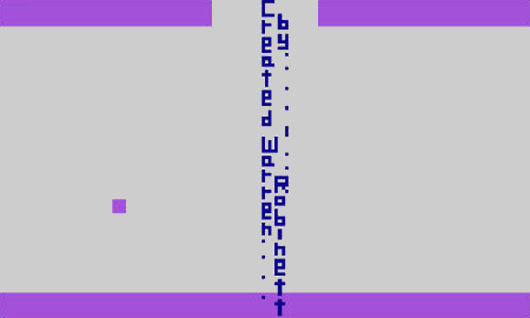 The infamous easter egg in Adventure for the Atari 2600
