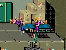 Whip Ladies in Double Dragon arcade