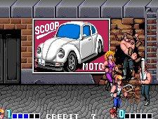 Abobo wall smash in Double Dragon arcade