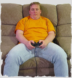 Jaded gamer on couch