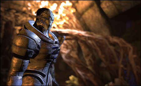 Saren: He wants to rule the universe by destroying it. Idiot.