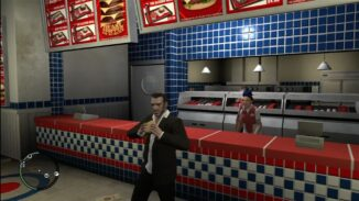 Grand Theft Auto IV on the Xbox 360 Burger