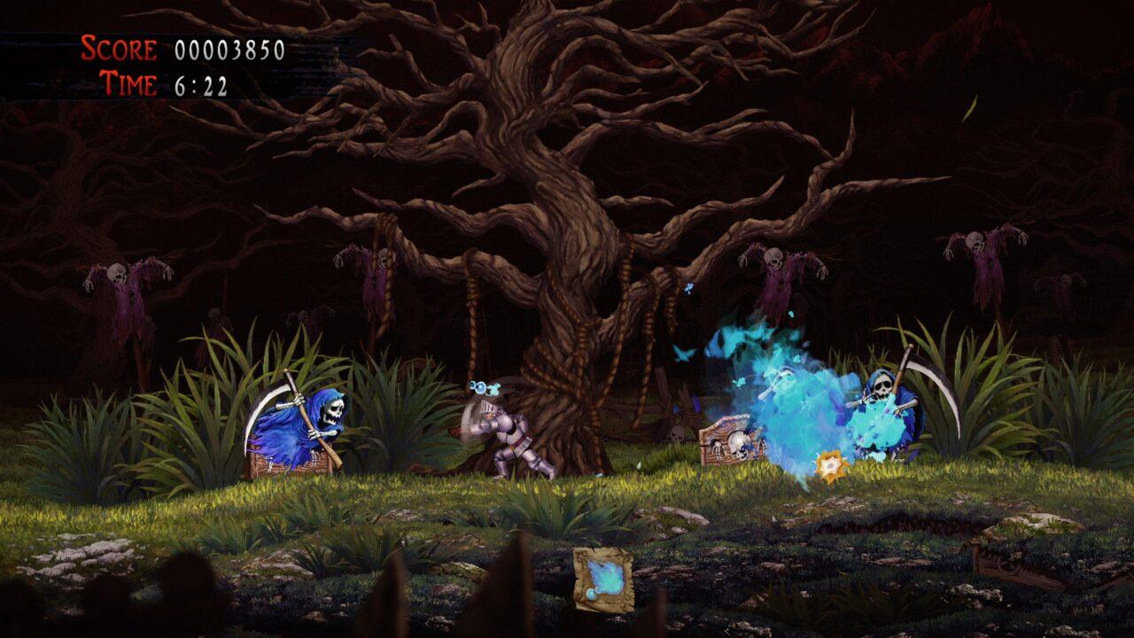 Ghosts 'n Goblins Resurrection - Arthur battles Reapers