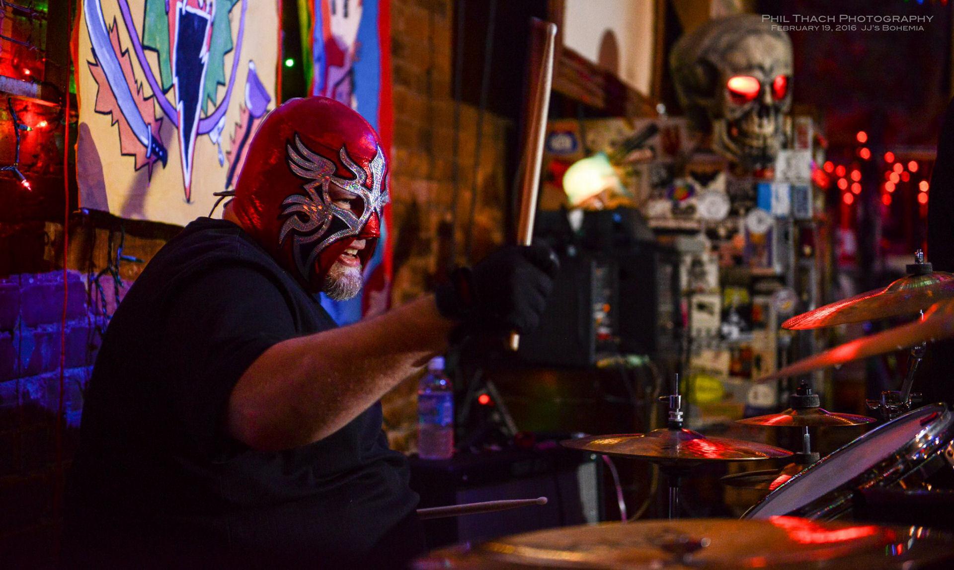 Fatsquatch drumming with Genki Genki Panic at JJ's Bohemia